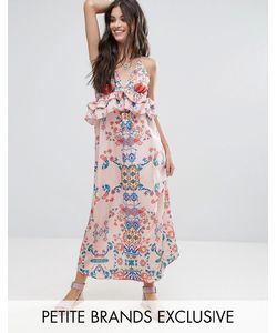 White Cove Petite | Платье Макси С Ярким Цветочным Принтом