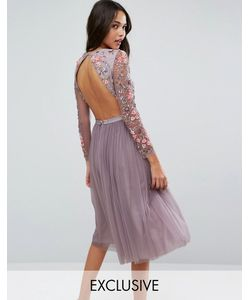 Needle & Thread | Платье Миди Из Тюля