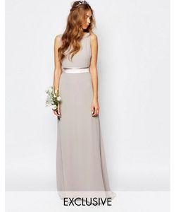 TFNC | Платье Макси С Бантом На Спинке Wedding