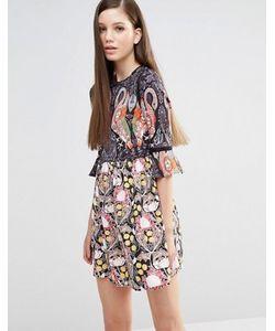 Comino Couture | Платье С Фламинго