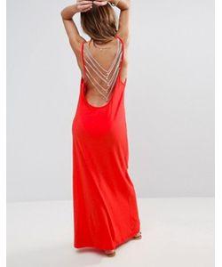Pitusa | Пляжное Платье С Открытой Спинкой
