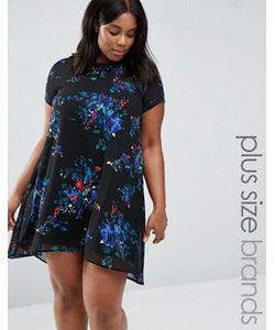 AX Paris | Свободное Платье С Цветочным Принтом И Полупрозрачными Вставками Plus