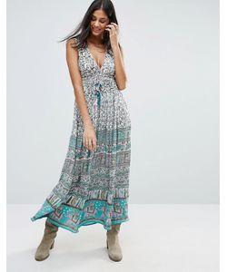 Raga | Платье Макси С Принтом Far Lands