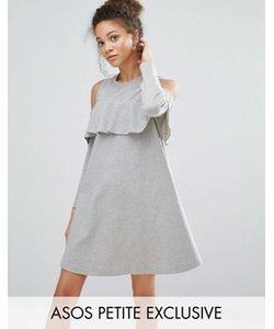 ASOS PETITE | Трикотажное Платье С Вырезами На Плечах И Оборкой