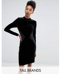 Y.A.S Tall   Бархатное Облегающее Платье Со Вставками Luvy