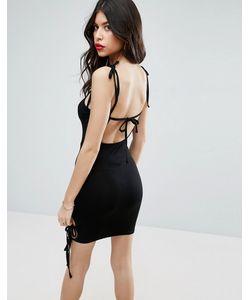 Asos | Платье Мини С Квадратным Вырезом И Бретельками