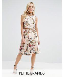 Miss Selfridge Petite | Jacquard Midi Skirt
