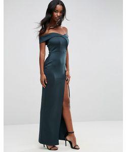 Asos | Платье Макси С Запахом И Открытыми Плечами
