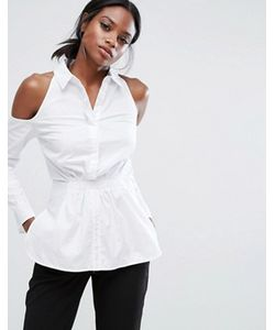 Lavish Alice | Хлопковая Рубашка С Вырезами На Плечах