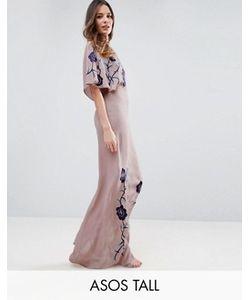 ASOS TALL | Платье Макси С Вышивкой