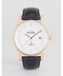Vivienne Westwood | Часы С Черным Кожаным Ремешком Vv065swhbk