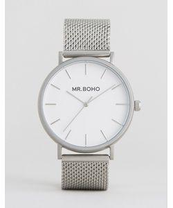 Mr Boho | Серебристые Часы С Сетчатым Браслетом