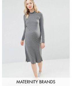 Mama Licious | Трикотажное Облегающее Платье Для Беременных В Полоску Mamalicious