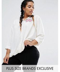 Daisy Street Plus | Рубашка С Асимметричной Кромкой И Длинными Рукавами