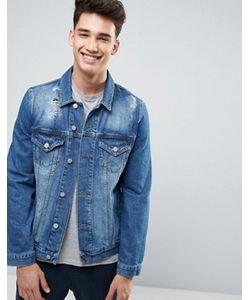 Asos | Синяя Рваная Джинсовая Куртка