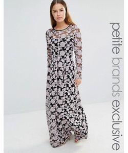 True Decadence Petite | Кружевное Платье Макси С Вышивкой