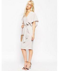 Asos | Платье Миди С Широкими Рукавами