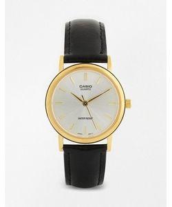 Casio | Часы С Черным Кожаным Ремешком Mtp1095q-7a