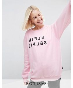 Adolescent Clothing | Свитшот С Зеркальный Принтом Elfie Selfie Christmas