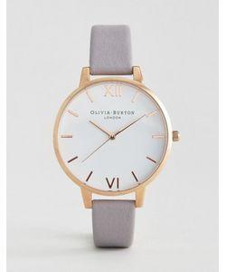 Olivia Burton | Часы С Белым Большим Циферблатом И Серо-Сиреневым Кожаным Ремешком
