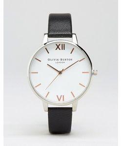Olivia Burton | Часы С Белым Циферблатом И Черным Кожаным Ремешком Ob16bdw08