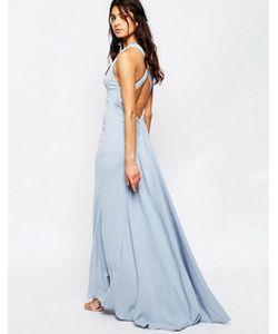 JARLO | Платье Макси С Высокой Горловиной И Шлейфом Sasha