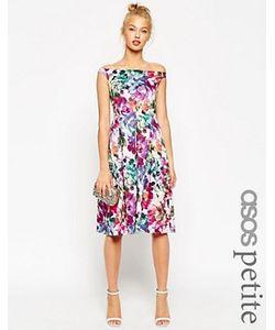 ASOS PETITE | Платье Миди Для Выпускного С Цветочным Принтом
