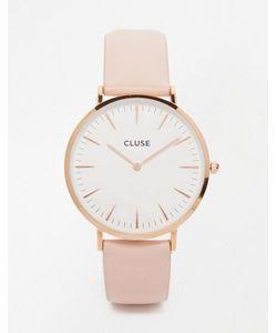 Cluse | Часы С Розовым Кожаным Ремешком La Boheme Cl18014