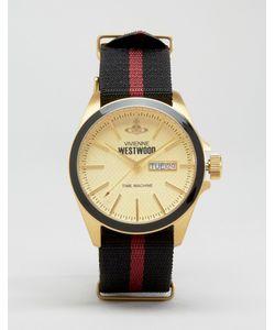 Vivienne Westwood | Часы С Полосатым Парусиновым Ремешком
