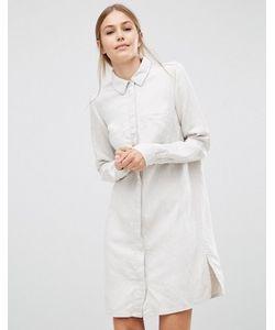 Just Female   Льняное Платье-Рубашка Sketch