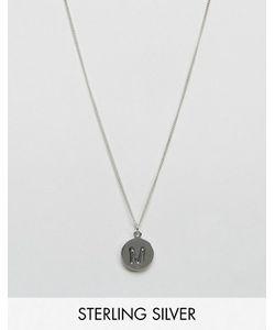 Fashionology   Серебряное Ожерелье С Инициалом М
