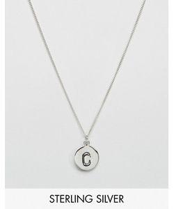 Fashionology   Серебряное Ожерелье С Инициалом C
