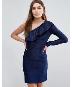 First & I | Платье С Одним Рукавом И Оборкой