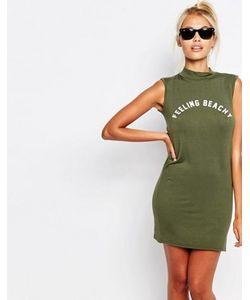 Adolescent Clothing | Облегающее Платье-Майка С Принтом Feeling Beachy