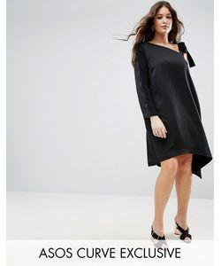 ASOS CURVE | Платье На Одно Плечо С Асимметричным Низом