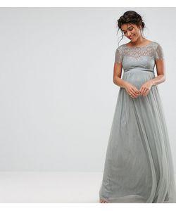 Little Mistress Maternity | Платье Макси Для Беременных С Кружевным Лифом