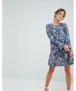 Closet London | Платье С Цветочным Принтом И Оборкой Closet