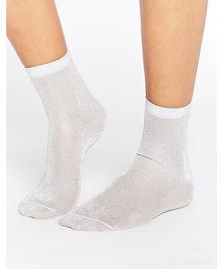 Asos | Серебристые Блестящие Носки