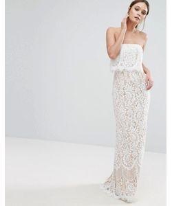 JARLO | Кружевное Платье-Бандо Макси С Юбкой-Годе