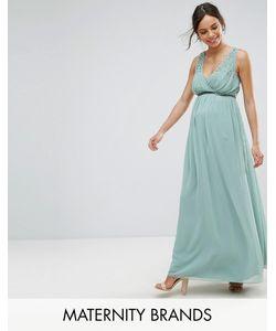 Little Mistress Maternity   Платье Макси С Отделкй На Талии
