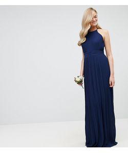 TFNC Tall | Плиссированное Платье Макси С Высоким Воротом Wedding