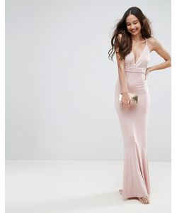 Asos   Платье Макси С Глубоким Вырезом И Плетеными Бретелями