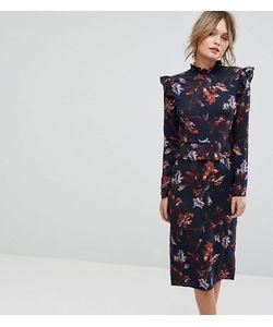 Hope and Ivy | Платье С Длинными Рукавами Оборками И Цветочным Принтом Hope Ivy