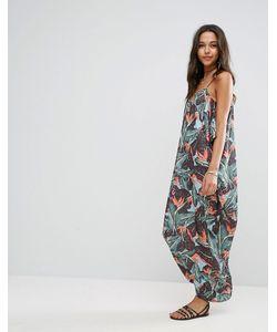 Asos | Платье Макси С Тропическим Принтом