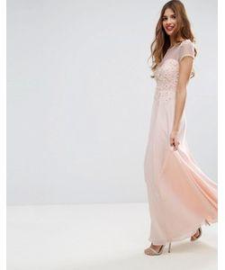 Asos   Платье Макси С 3d Цветочной Аппликацией