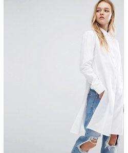 Daisy Street   Удлиненная Рубашка С Разрезом По Шву
