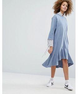 STYLE NANDA | Платье С Заниженной Талией И Присборенной Юбкой Stylenanda