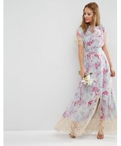 Asos | Платье Макси С Принтом И Кружевом Wedding