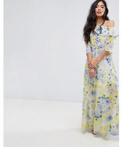 boohoo | Платье Макси С Цветочным Принтом И Завязкой
