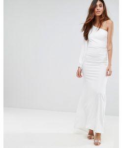 TFNC   Платье Макси С Открытыми Плечами И Пышным Рукавом На Манжете